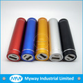 Mini 2600mah External Battery Pack Compact Lipstick Size mobile phone USB Portable Power Bank Charger for iPhone5/6 IPAD Camera