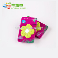 China manufacturer red star grape mint candy