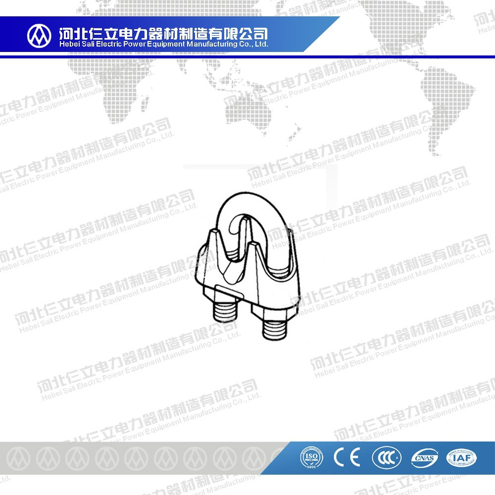 Hot-dip galvanized steel wire rope clip