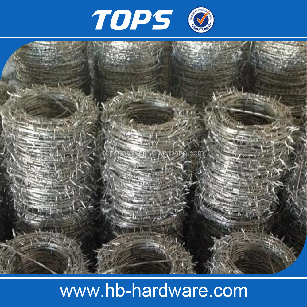 China Alibaba dingzhou manufacture barbed wire weight per meter