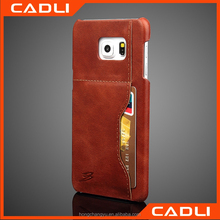 Custom Printed Real Leather OEM phone case for Samsung S7
