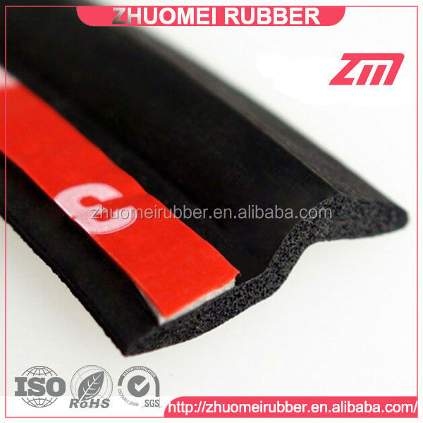 Noise Seal Z Type Car Rubber Door Seal with 3M Tape