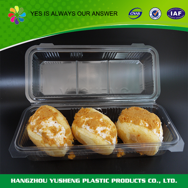 Burger packing food container,clear clamshell food container