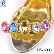 HW6003 plating gold outlook shoes jewelry heel protector pls shoe accessories