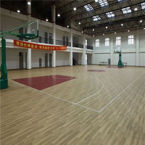 New material Lichi pattern pvc basketball court sports flooring with CE/ISO