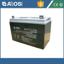 Arosi high effiency 12v 100ah solar battery 12v 4ah battery and charger
