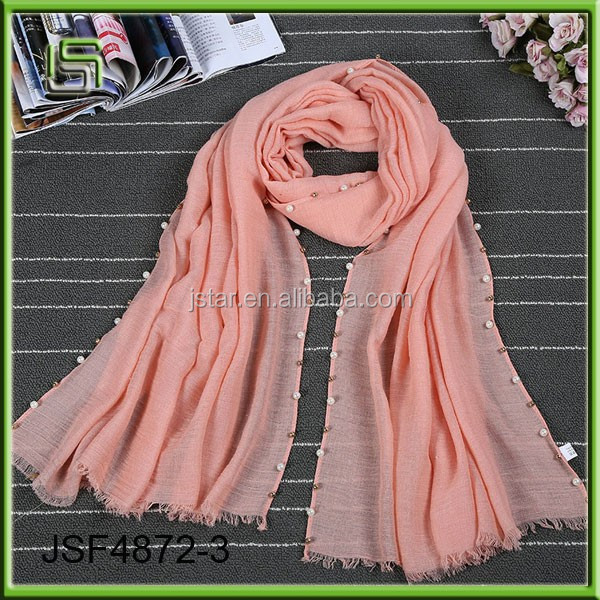 2017 new cotton and linen solid color scarves wholesale