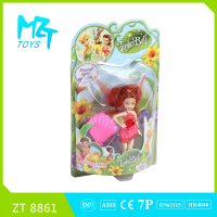 2016 New !Eco-friendly PVC Tinker Bell with light and comb (3 model mixed) Barbie Doll