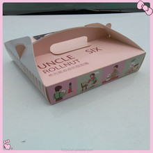 China Factory Direct Food Grade Folding Paper Box For Donut Packaging
