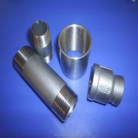 China stainless steel pipe fitting,304&316&316L barrel nipple,welding nipple,reducer,coupling