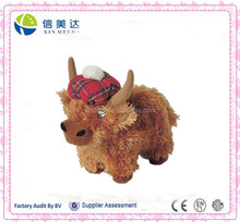 Highland Cow Large Soft Toy with Scottish Hat