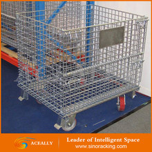 Hot sale zinc Plated wire mesh container / Storage used metal container/Wire Pallet Cages