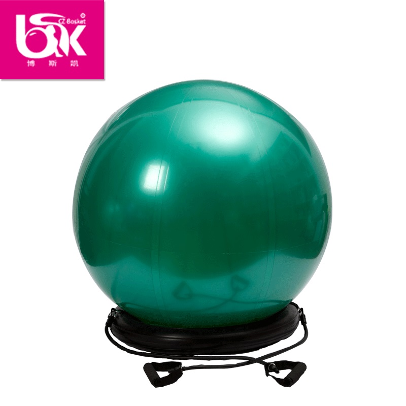 Exercise stand sitting on bouncy at work anti burst balance ball