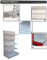 Kinds of single side backboard rack supermarket display rack