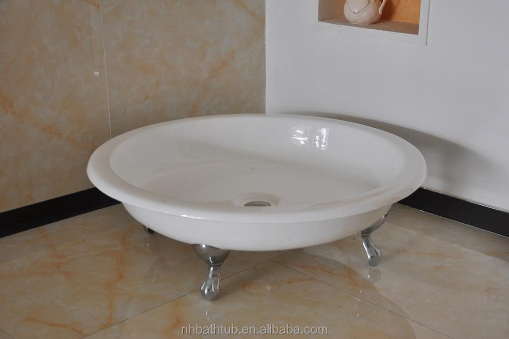 Portable Shower Base : Portable shower tray freestanding base cast iron