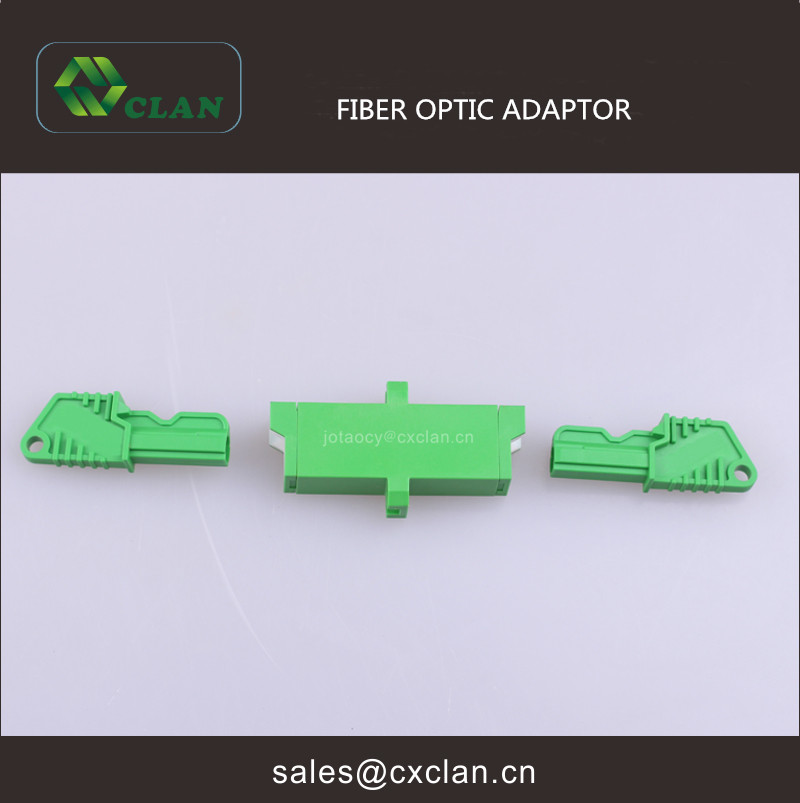 E2000 APC Singlemode Simplex Green Fiber Optic Adapter