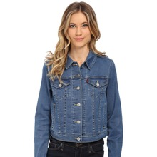 Wholesale women user-defined jean jacket with multi pockets