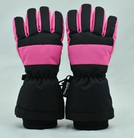 girls neoprene cuff thinsulate lining thermal finger gloves
