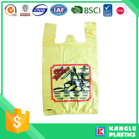 factory plastic hdpe cheap t-shirt bags for shopping