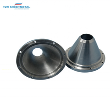 Custom  Stainless Steel 304 Annealed Engine Muffler - Baffle Cone  Automobile Rear Muffler Sheet metal