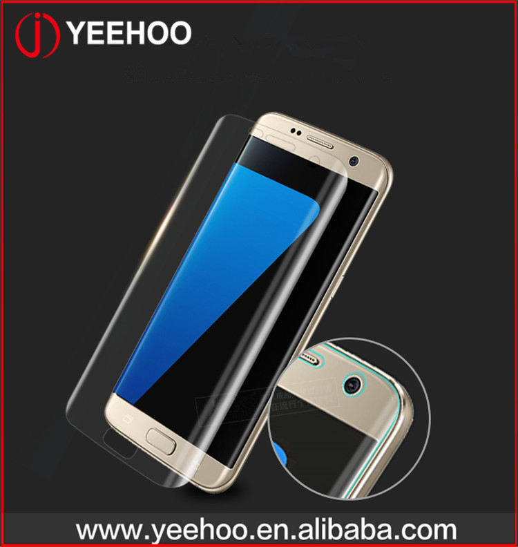 PET mobile phone smart touch tempered glass screen protector for samsung s6 edge plus s7 edge
