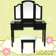 Bedroom furniture wooden dressing table set with movable mirror