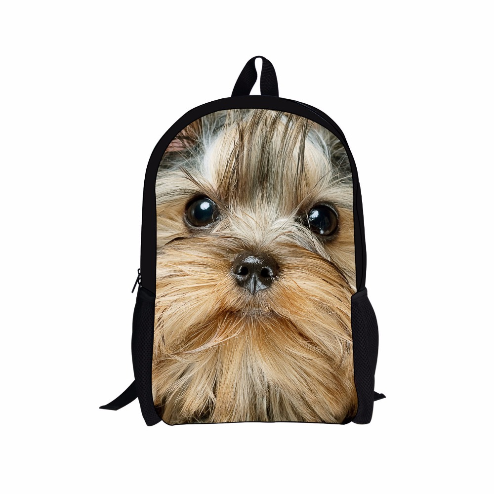 High quality 3 D effect cute kids animal zoo pet dog shape printing backpack