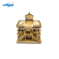 Wooden Crafts Handmade 3D Puzzle Crafts House Toy Gift