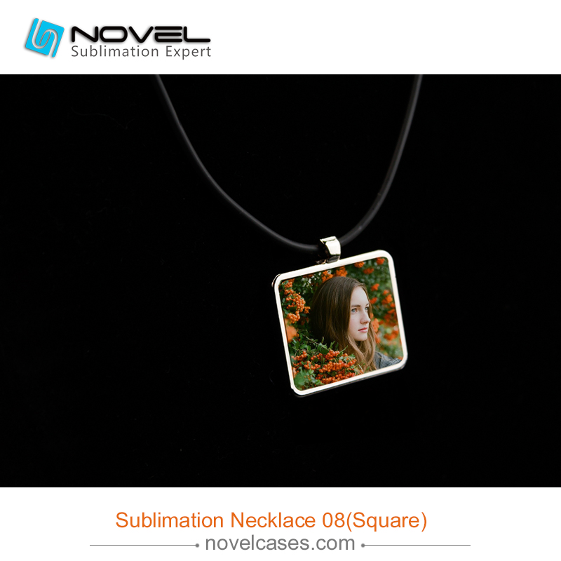 Square Shape Sublimation Jewelry Necklace,Sublimation blanks
