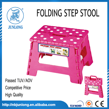 Pink and white 9 Inches Folding Step Stool