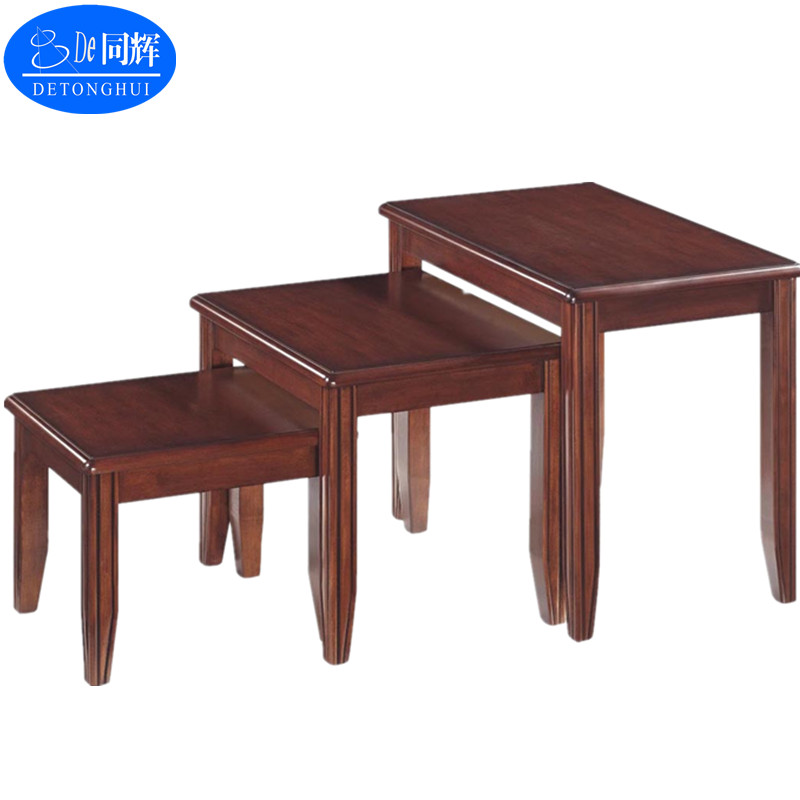 (W-114#)New design home furniture Square Wood Coffee Table Nesting Side Table