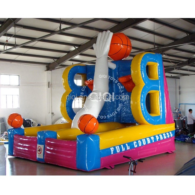 inflatable basket ball pitch , inflatable sports equipment,inflatable shooting game