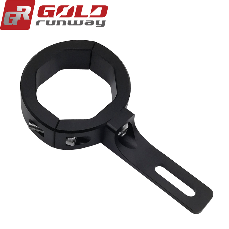 Turn Signal 49mm Black Relocation Fork Clamp Motorcycle Mount Bracket