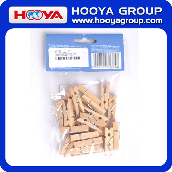 50pcs 35*7*10mm Bamboo Wodden Birch Clothes Pegs