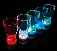 PARTY FAVORS LIGHT UP COLA GLASS LED DRINK CUP GLASSES GLOW PARTYWARE