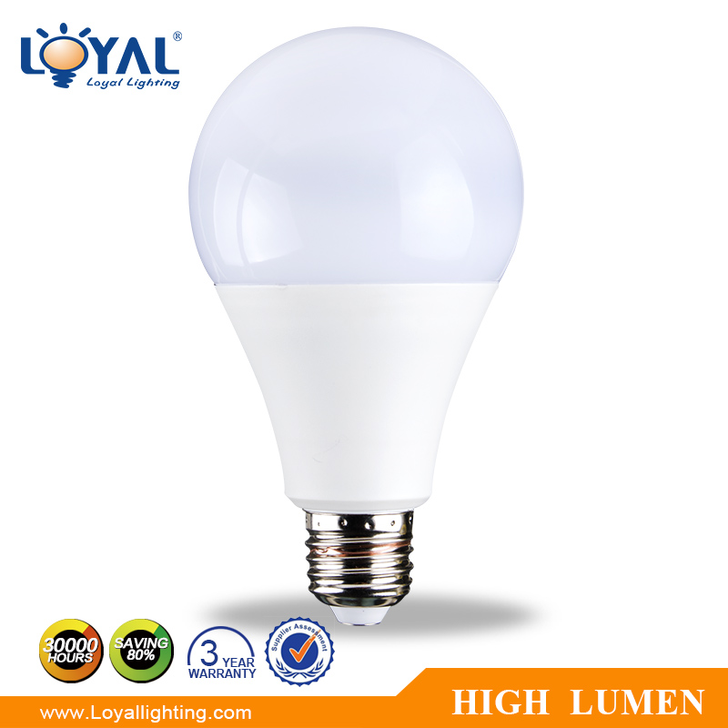 High lumen IP20 aluminum plastic A80 E27 SMD 12w lamp led bulb