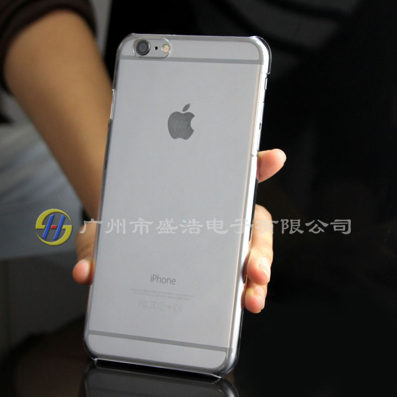 Wholesale clear PC single bottom cellphone case cover sets for Apple for iphone 6 i6 plus 5.5