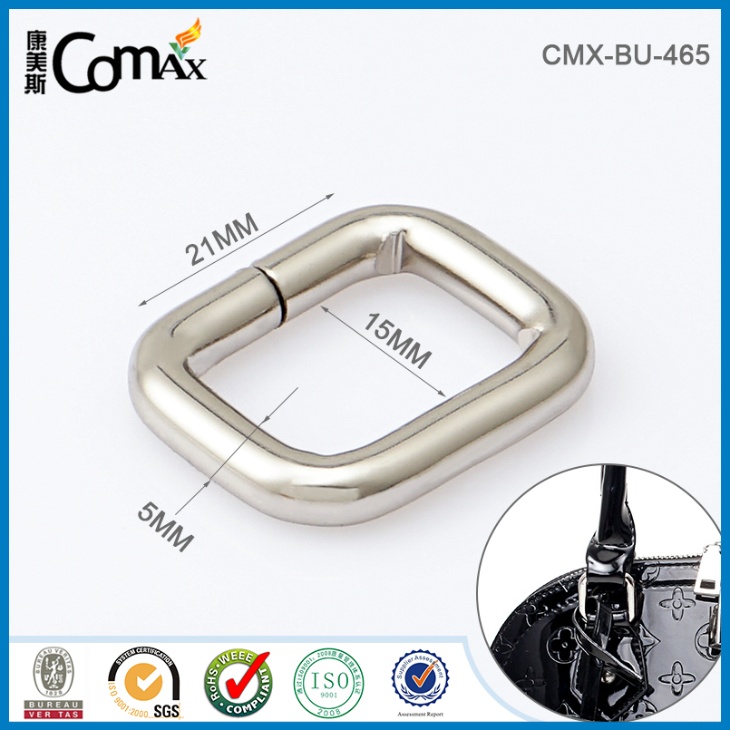 Custom Leather Bag Metal Belt Buckle Rings For Hardware Accessories