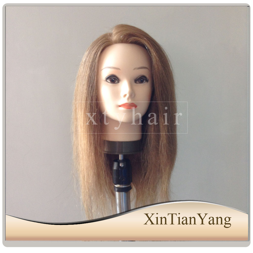 cheap hairdressing female training doll heads 100% human hair training doll head