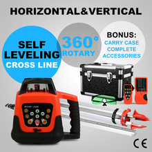 Diodo laser Self-leveling Rotary Green Laser Level 500m Range + Tripod + 5m Staff measuring instruments