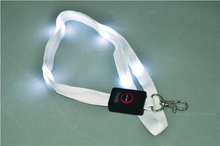 Good quality customer printed polyester led lanyard