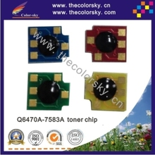 (CZ-DHU15-2) laser printer toner reset chip for HP Q6470A - Q7581A Q7583A Q6470 6470A 6470 Q7581 7581A 7581 bkcmy