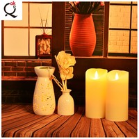 Religious Activities Inner ABS + Outer Paraffin Wax christmas flameless led candle wax light/