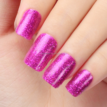 Wholesale new design glitter purple shiny strips full cover art factory long lasting patch nail polish tattoo sticker