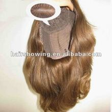 European hair Kosher Jewish wig With Injected Thin Skin