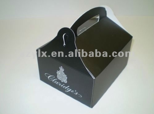 folding take-away box background with white color