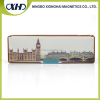 Full color printing customize 3 layers pencil case with sharpener