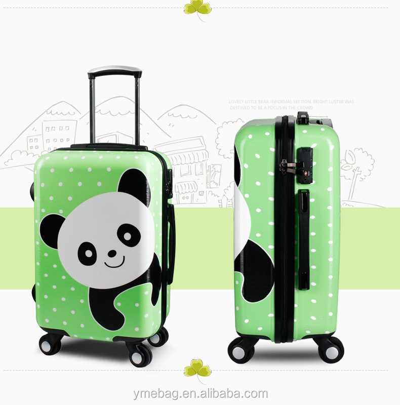4 universal wheels decent travelling abs trolley luggage bag for business trip