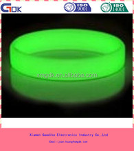 glow in the dark silicone rubber band bracelets for promote