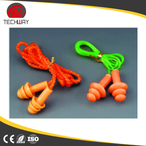 CE EN352 EAR PROTECTION, CORDED SILICONE EARPLUG WITH CASE